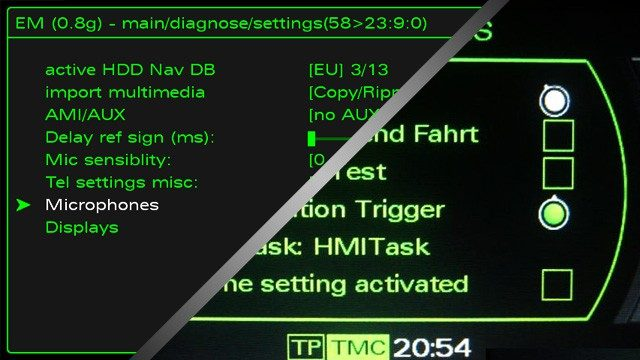 2G 3G MMI hidden green menu