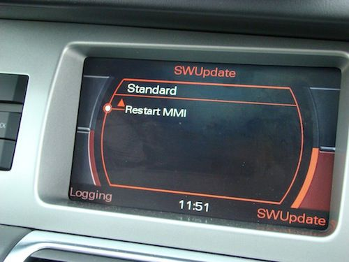Audi MMI 2G after software update procedure