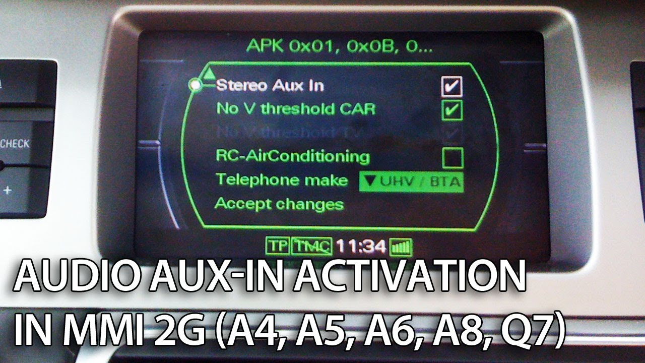 Audi Mmi 2g Aux Audio Source Activation And Wiring Mr Fix Info