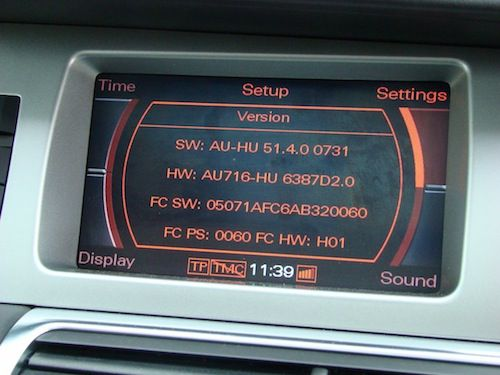 Audi Multi Media Interface 2G software version 5140