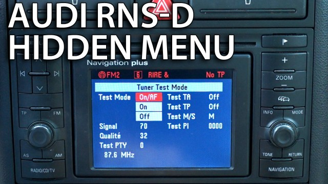 Audi RNS-D hidden menu navigation plus