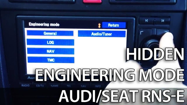 Audi Navigation Plus RNS-E hidden menu (engineering mode)