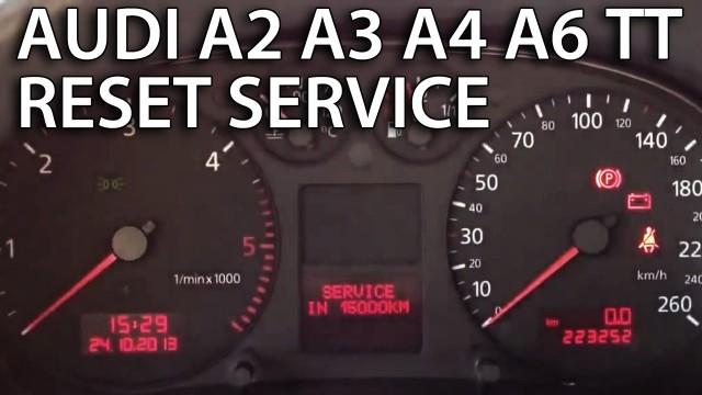 Audi reset service reminder (A2, A3 8L, A4 B6, A6 C5, TT 8N)