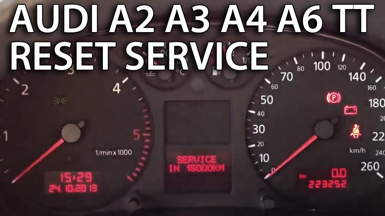 Audi a3 service zurücksetzen