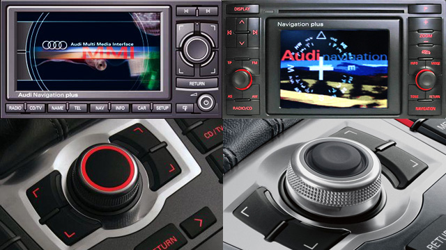 Differences between MMI2G MMI3G RNS-D and RNS-E Audi navigation systems