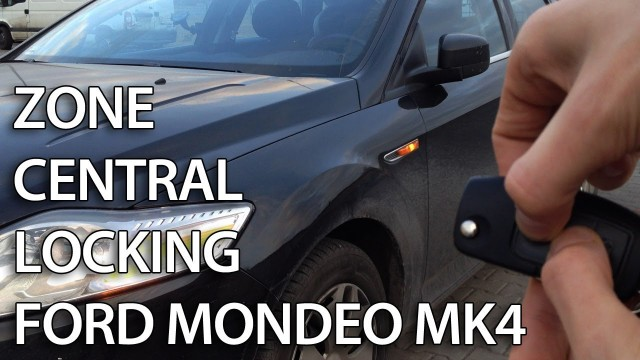 Ford Mondeo MK4 selective unlocking