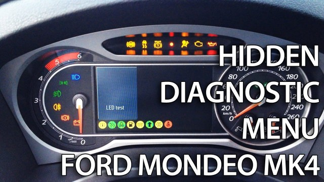 Hidden menu Ford Mondeo MK4 & S-Max