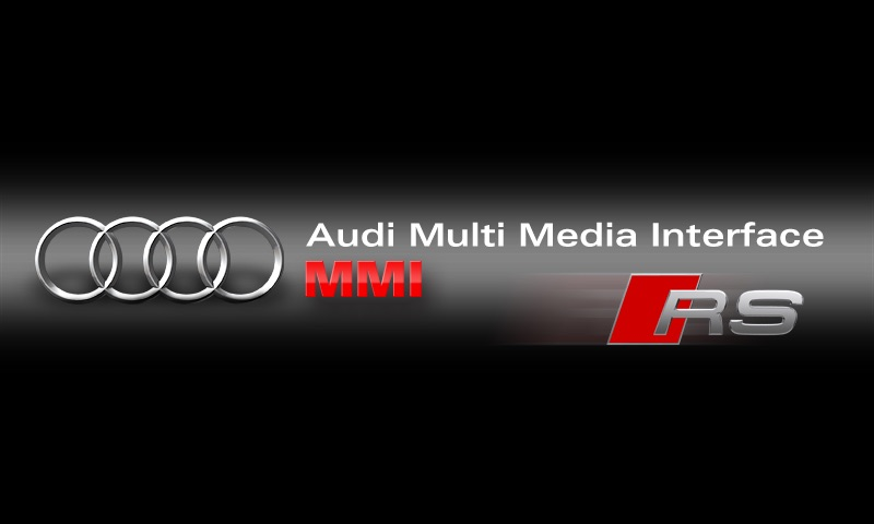 Audi MMI welcome screen in Mmi 3G