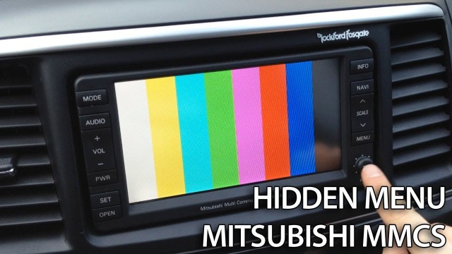 Mitsubishi MMCS hidden menu Lancer Pajero Outlander ASX RVR