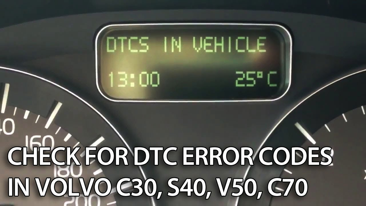 Volvo hidden menu and DTC check C30 S40 V50 C70