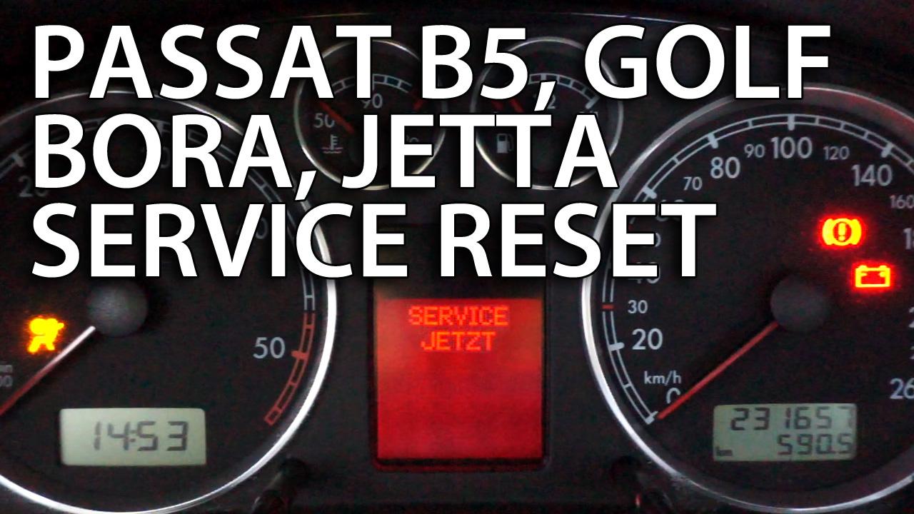 VW reset service reminder (Passat, Golf, Bora, Jetta)
