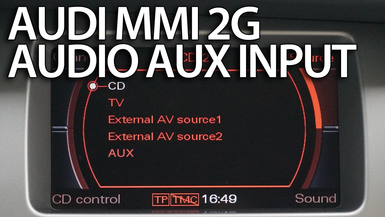 audi mmi 2g aux audio source activation and wiring