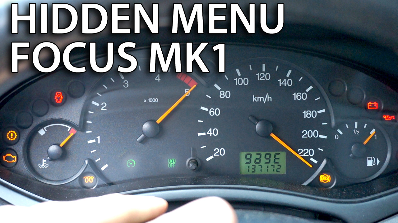 Ford Focus MK1 hidden menu service mode