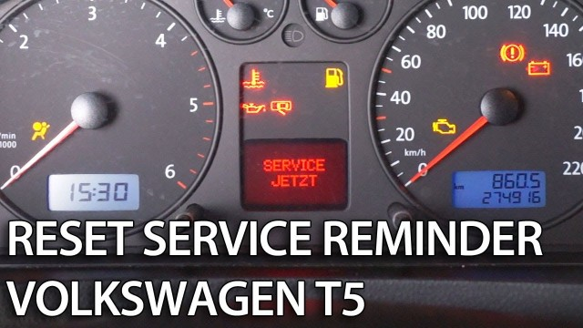 VW T5 reset service inspection reminder
