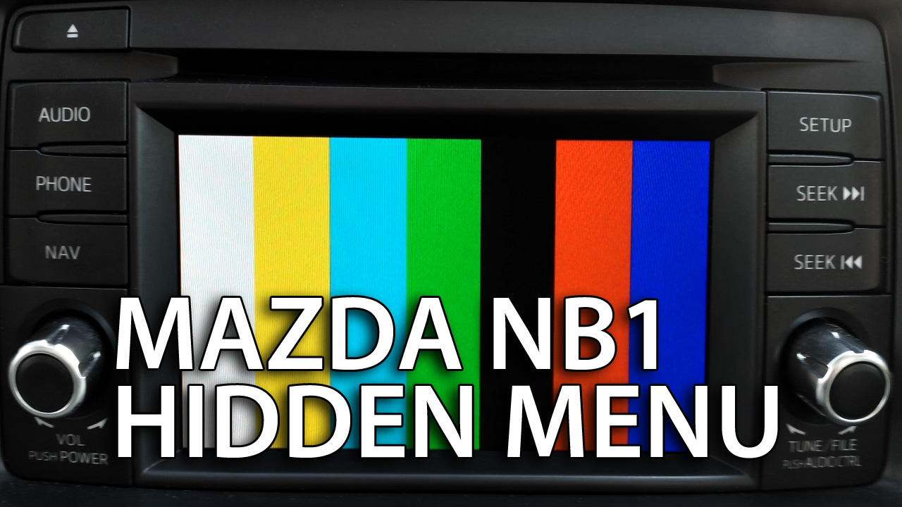 Mazda NB1 hidden menu (TomTom navigation diagnostic mode)