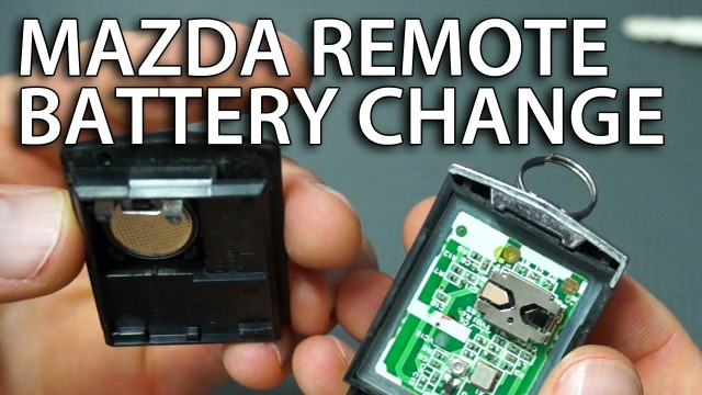 Mazda remote battery replacement