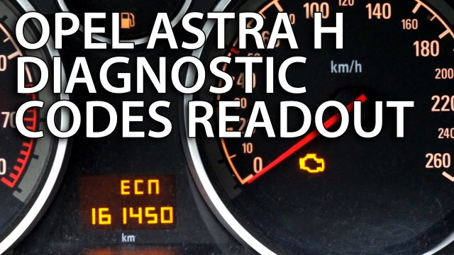 Opel Astra H DTC (diagnostic trouble codes) readout