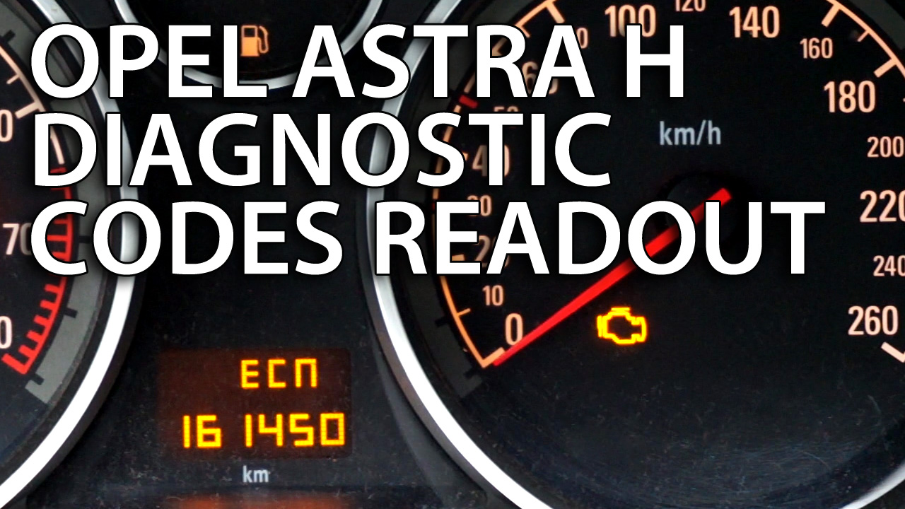 Opel Astra H DTC diagnostic codes readout - mr-fix info