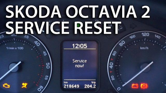 Skoda Octavia II reset service reminder indicator