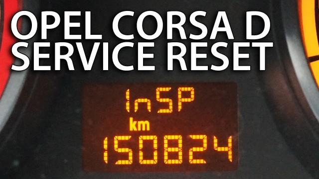 Opel Corsa D inspection reset