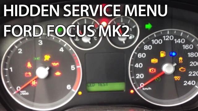 Ford Focus MK2 C-Max hidden menu