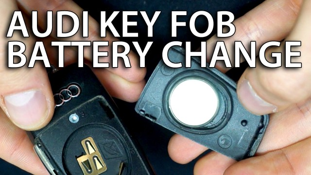 Change Audi flip key battery