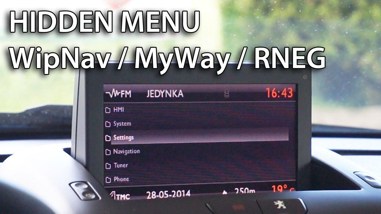 Hidden menu RNEG, WipNav, MyWay