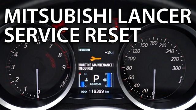 Reset service Mitsubishi Lancer X