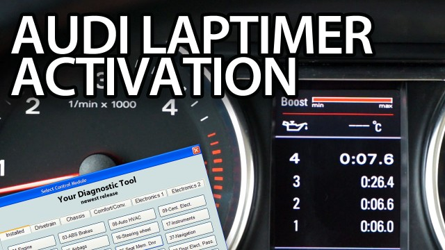 Audi laptimer activation vcds