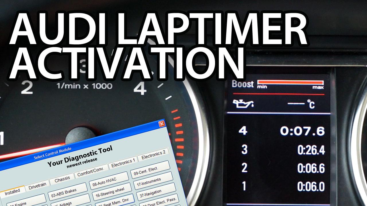 Audi laptimer, oil temp , boost gauge activation - mr-fix info