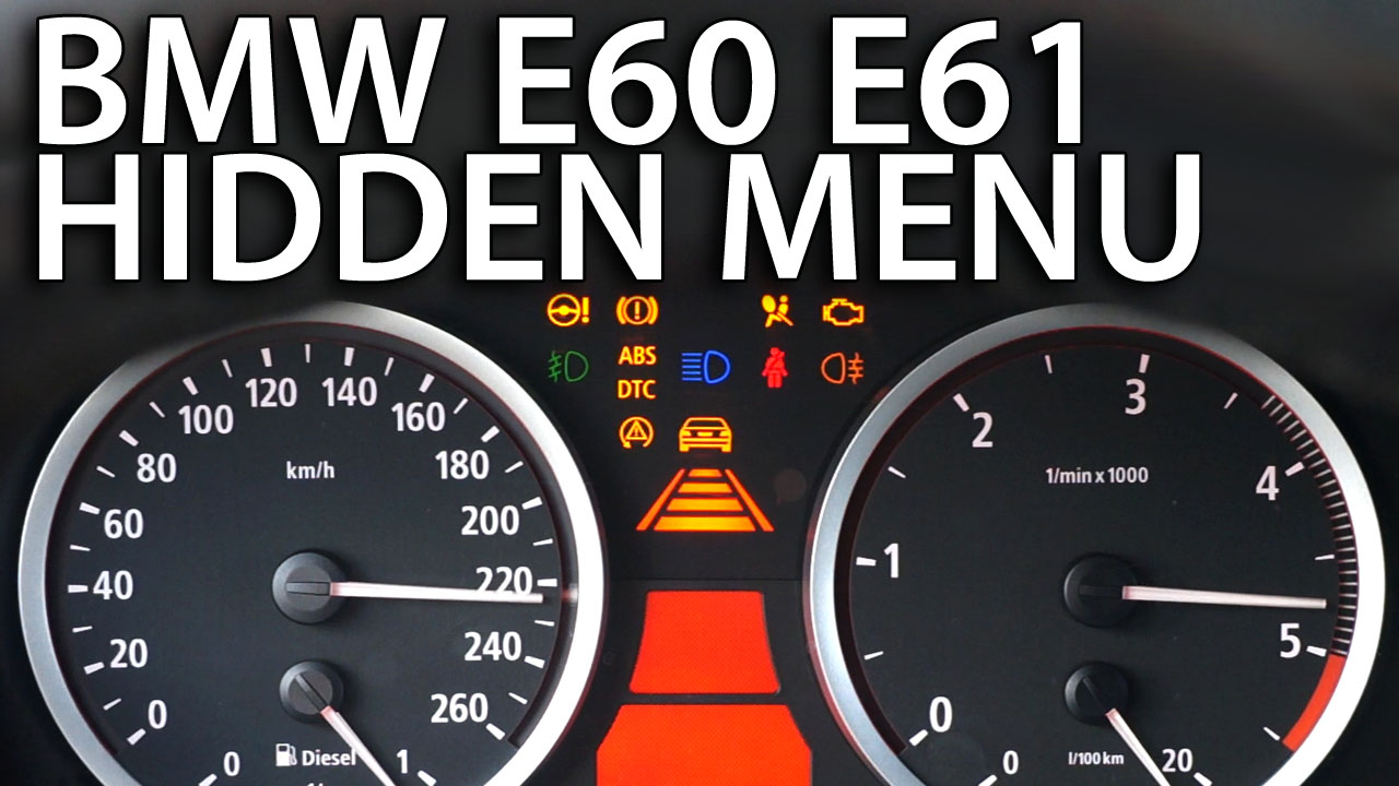 BMW E60 E61 hidden menu OBC - mr-fix info