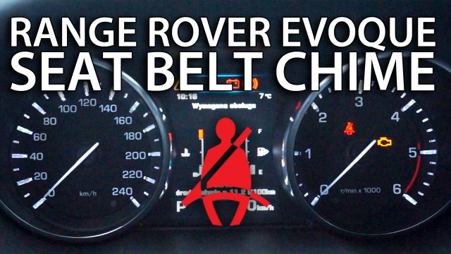 Range Rover Evoque seat belt chime disable