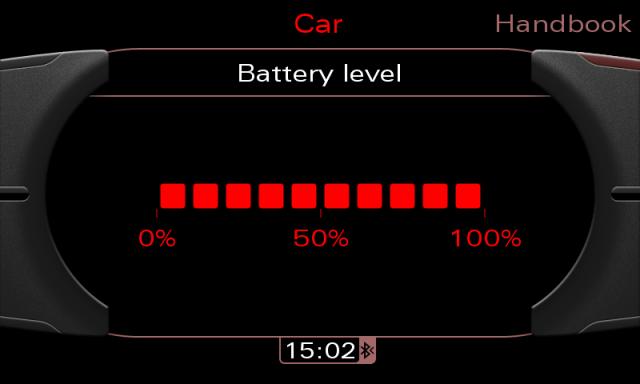 Audi MMI 3G screenshot - Battery level