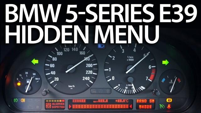 BMW E39 OBC hidden menu