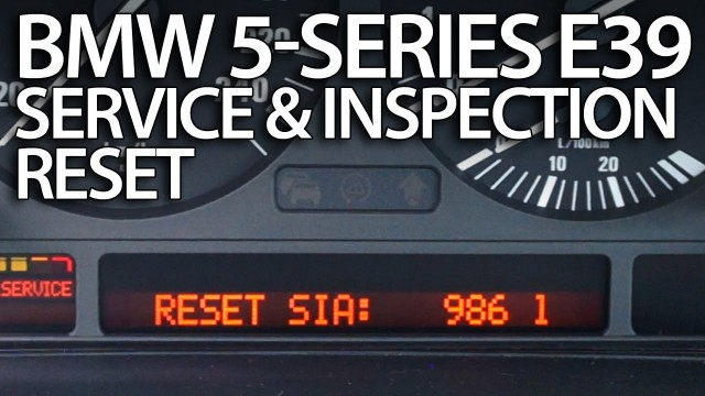 BMW E39 service reminder reset