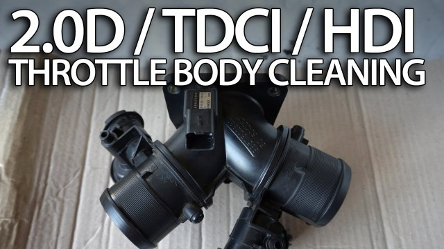 HDi TDCi D 2.0 diesel throttle body cleaning (Peugeot Volvo Ford Citroen)