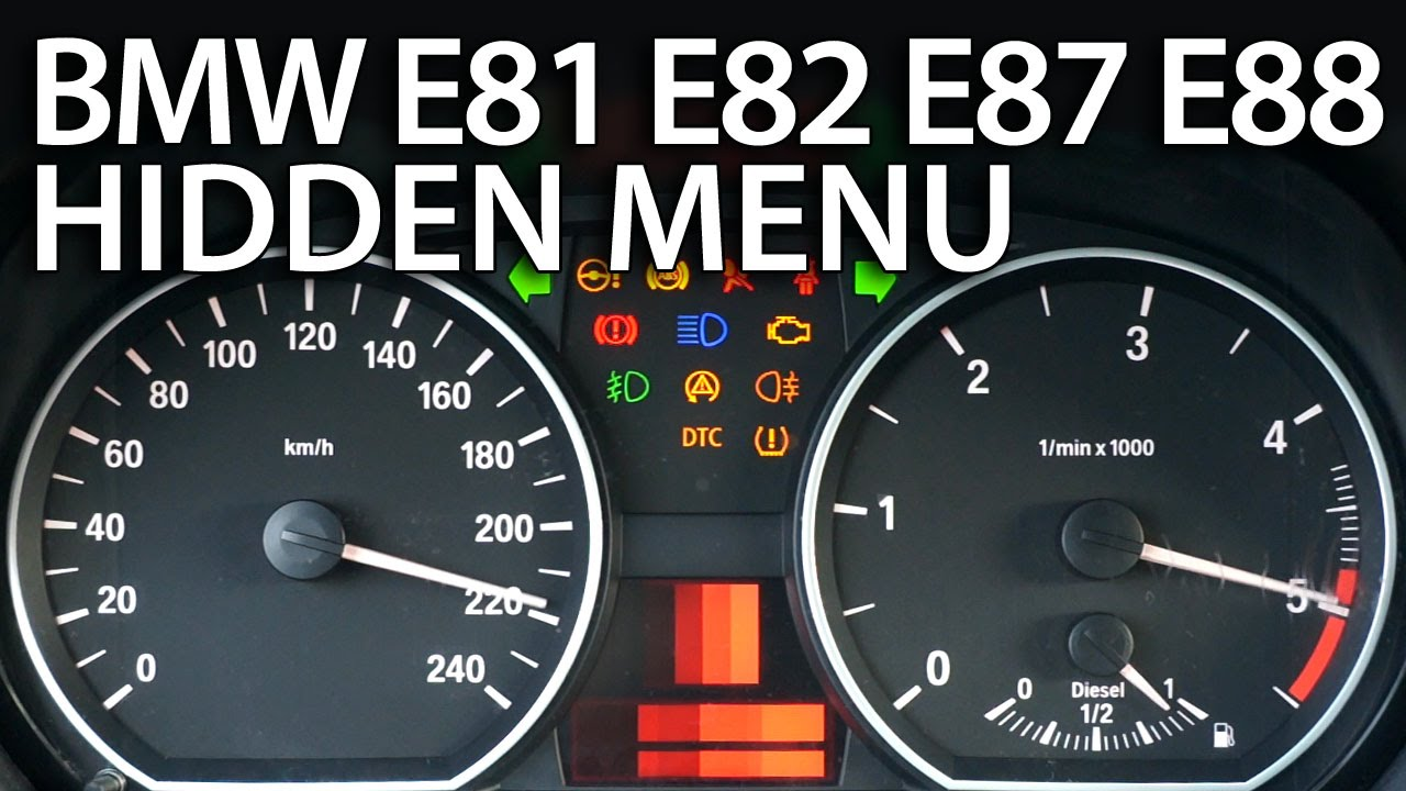 BMW 1-Series hidden menu (E81, E82, E87, E88)