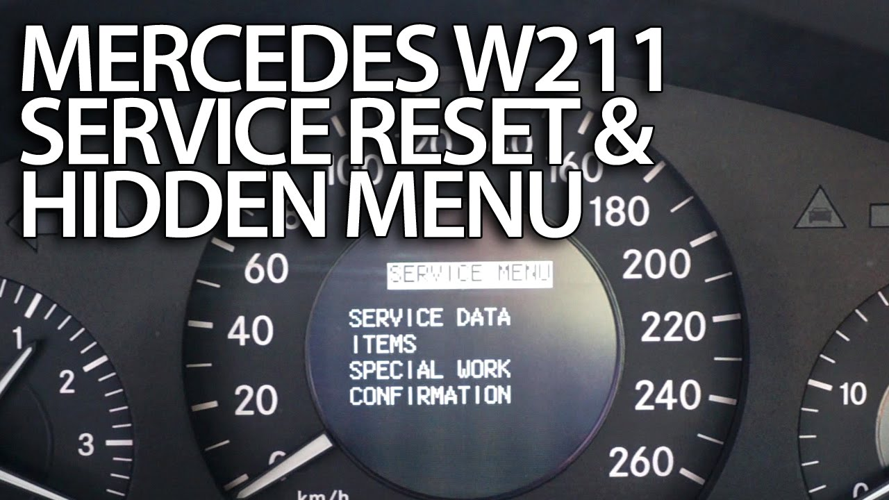 Mercedes W211 service reminder reset (emissions inspect. performed on time) E-Class