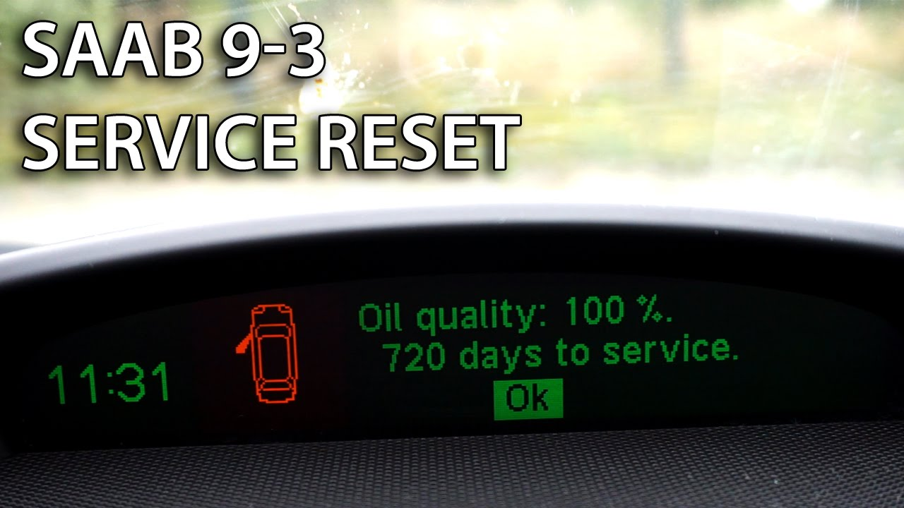 Saab 9-3 reset service reminder how to
