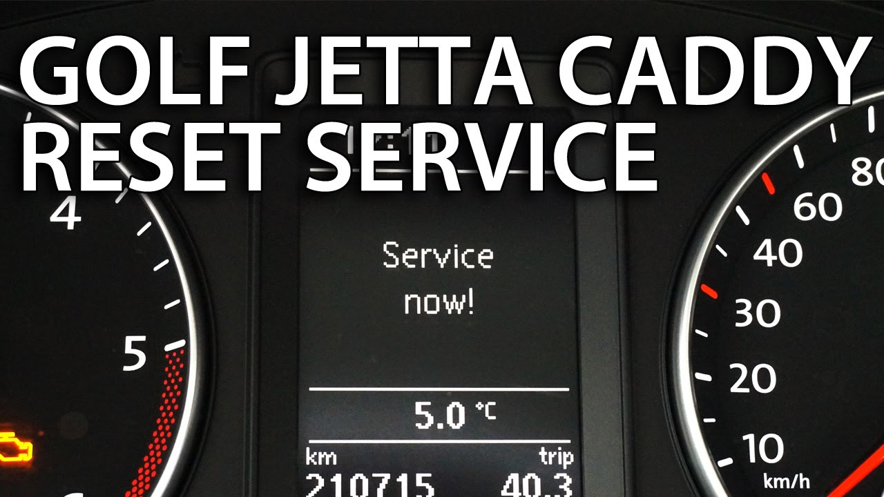 VW reset service inspection Golf Passat Jetta