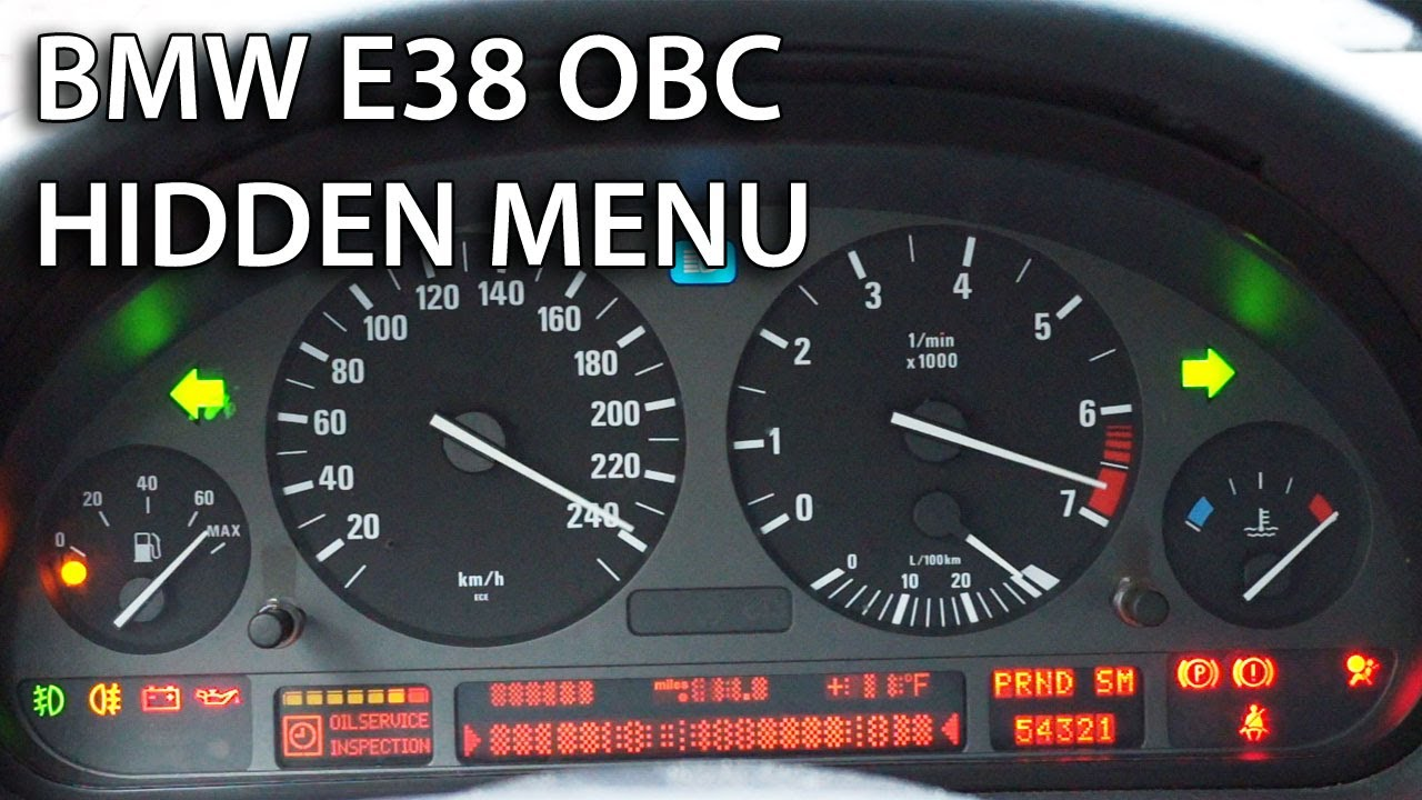 BMW E38 OBC hidden menu (diagnostic mode)