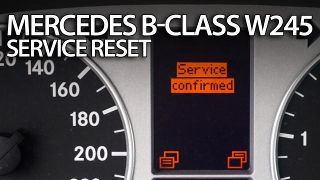 Mercedes W245 service reminder reset