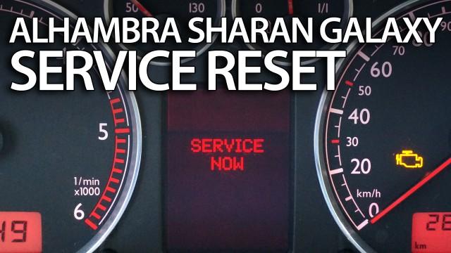 Reset service reminder Sharan, Galaxy, Alhambra