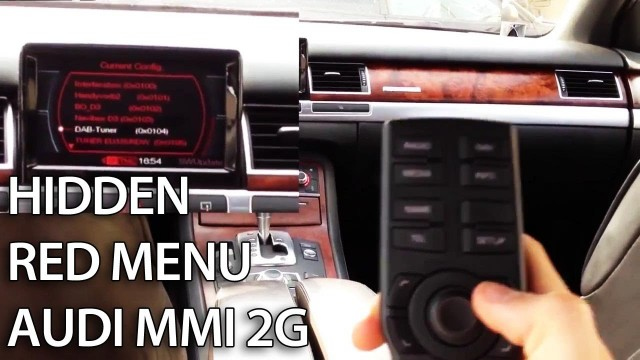 Audi MMI 2G hidden red menu description