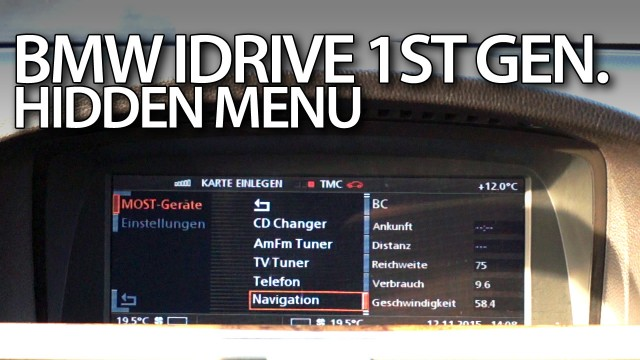 BMW iDrive 1st gen hidden menu