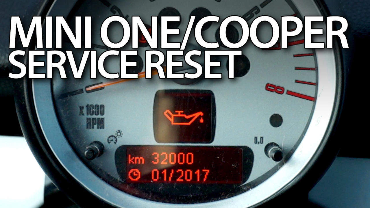 Mini One Cooper service reset