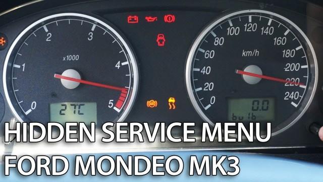 Ford Mondeo MK3 hidden menu