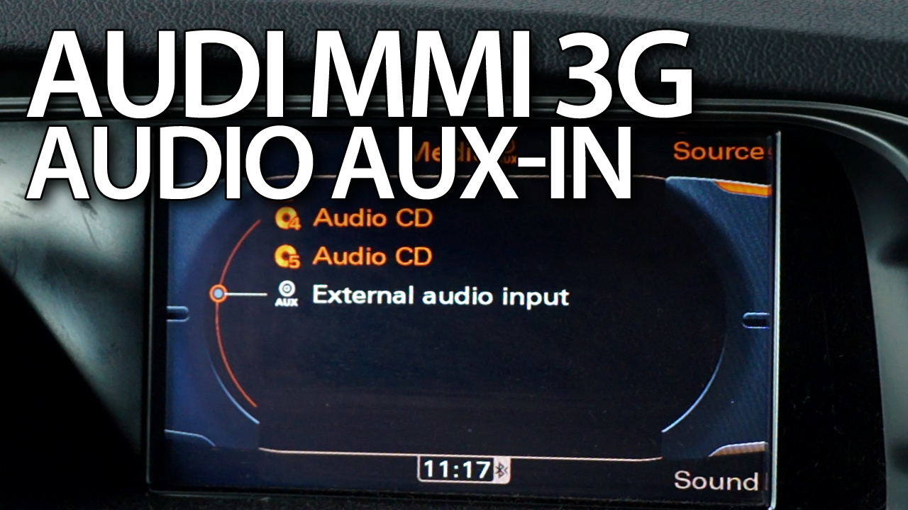 audi mmi 3g aux activation