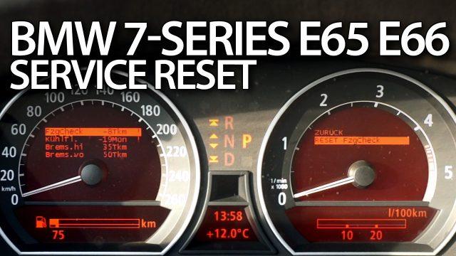 Reset service reminder BMW E65 E66 E67 E68
