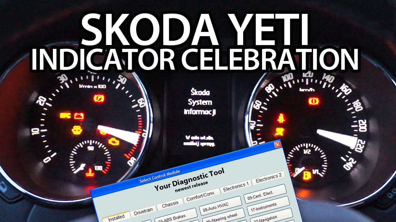 Skoda Yeti Indicator Celebration activation (needle sweep, gauge test, welcome ceremony, staging)